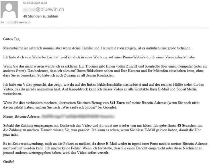 Erpresser E Mail